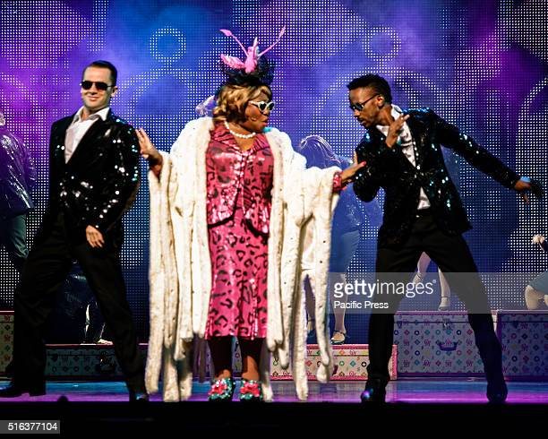 ROYAL SYDNEY NSW AUSTRALIA British stage and television performer Wendy Mae Brown as Oda Mae the role made famous by Whoopi Goldberg sings 'Outa...