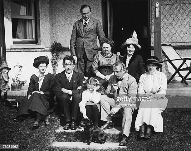 British statesman David Lloyd George with his family at Criccieth 1912 With him are his daughters Megan and Olwen and his wife Margaret