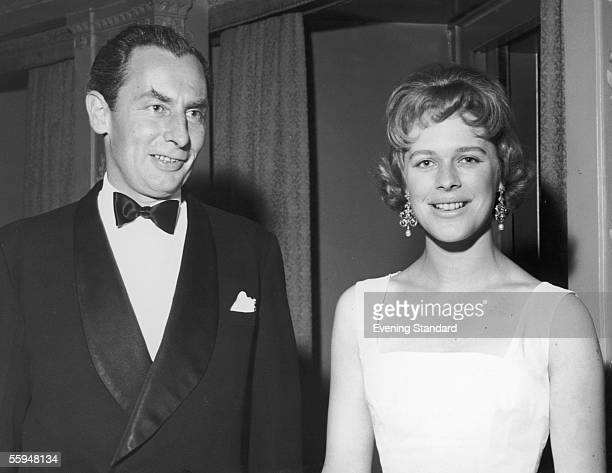 British statesman Hugh Fraser and his wife historian and biographer Antonia Fraser attend the Victoria League Ball at the Dorchester Hotel 30th June...