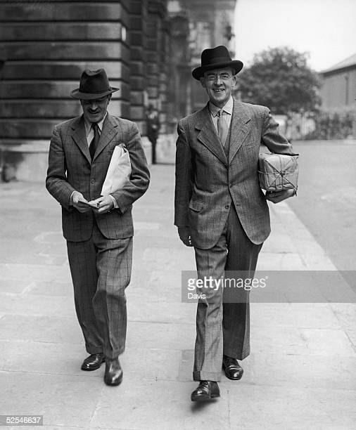 British statesman Sir Stafford Cripps the British Ambassador in Moscow with Ronald Campbell formerly the British Minister in Belgrade 20th June 1941...