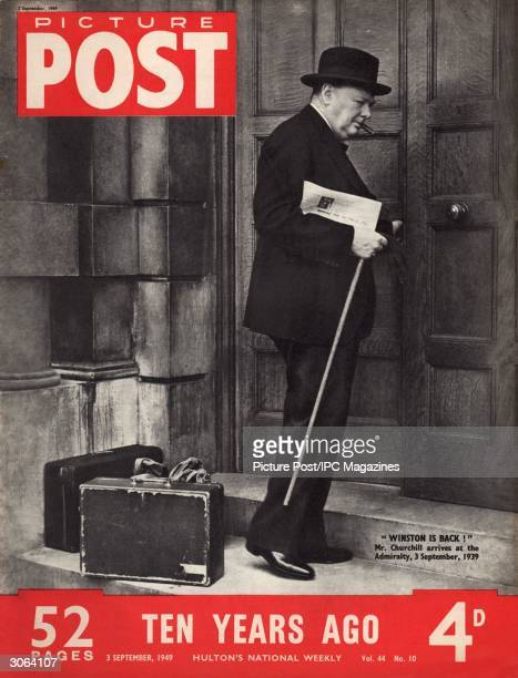 British statesman Winston Churchill arrives at the Admiralty at the start of World War II as the War Cabinet's new First Lord of the Admiralty 3rd...