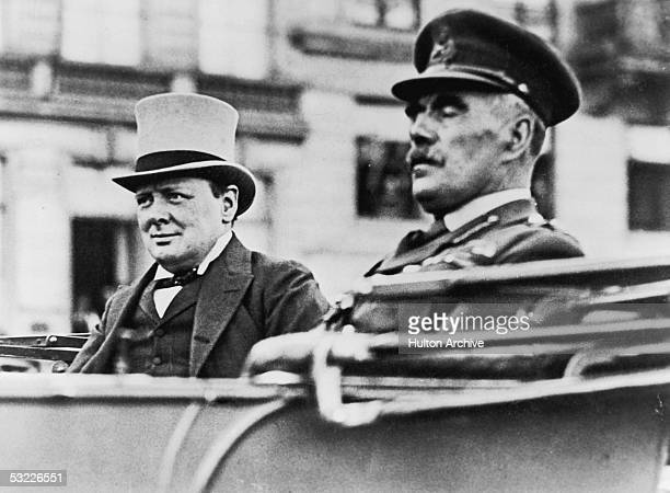 British statesman Winston Churchill in Cologne with Sir William Robert Robertson Chief of the Imperial General Staff during World War I 1917