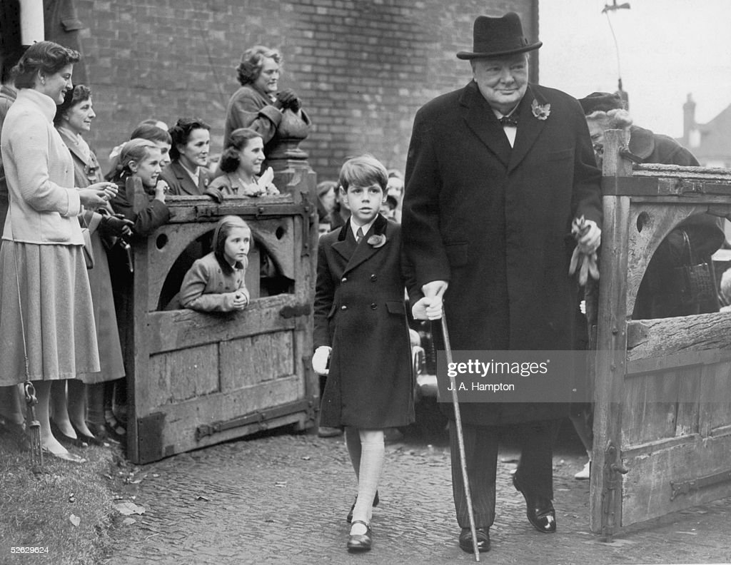 Churchill And Grandson : News Photo