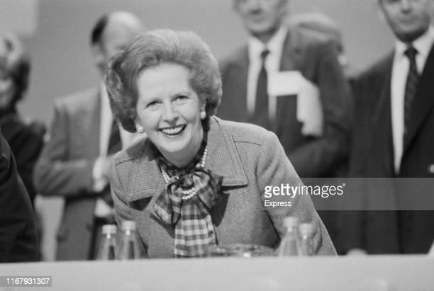 British stateswoman Margaret Thatcher , Prime Minister of the United Kingdom, UK, 9th October 1984.