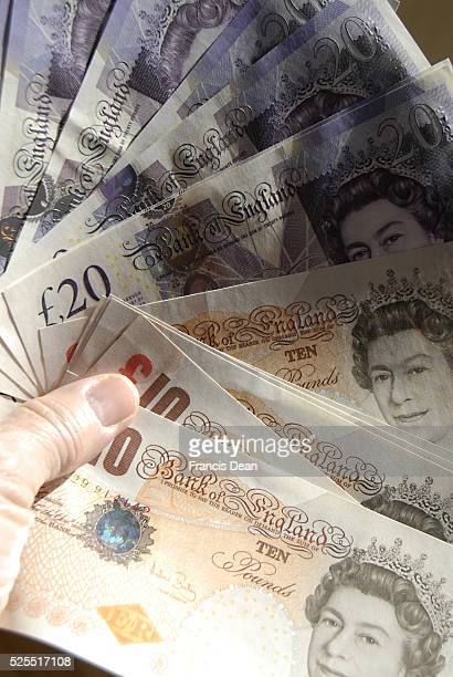 British Pound Sterling Note Stock Photos and Pictures |