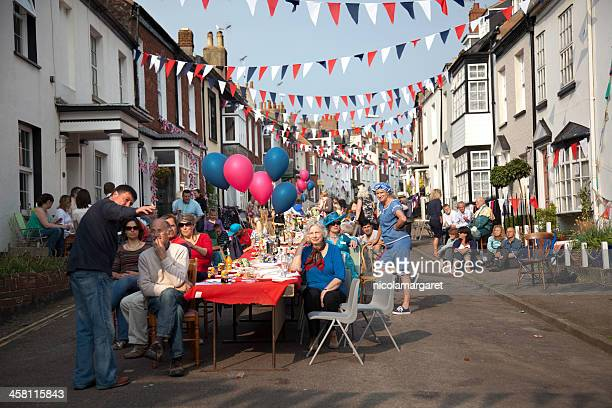 british street party - british royal family stock photos and pictures