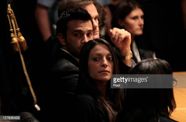 British student Meredith Kercher's sister Stephanie Kercher looks on as she listens the verdict during the appeal trial session at the Perugia court...