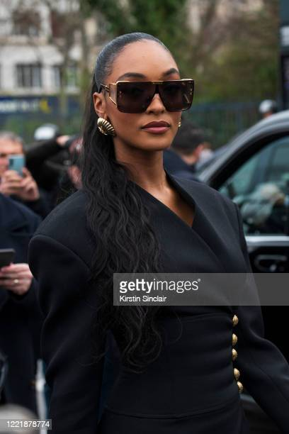 British Supermodel Jourdan Dunn wears all Balmain on February 28 2020 in Paris France