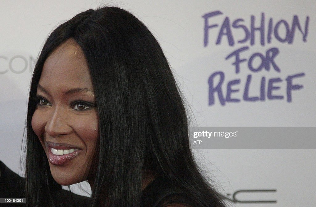 British supermodel Naomi Campbell appears during a photocall in Moscow on May 24, 2010 at a gala fashion for charity event.