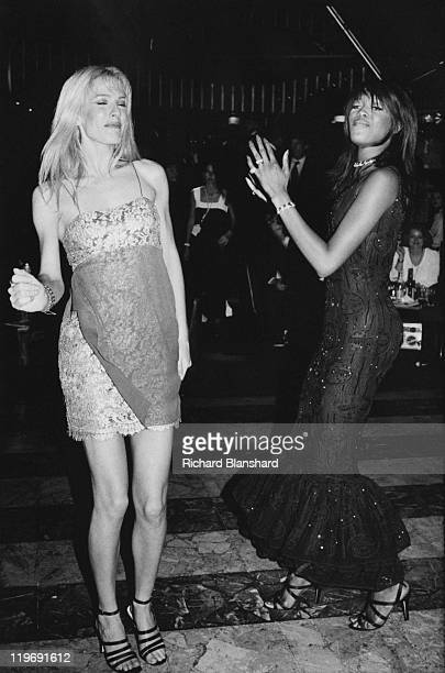 British supermodel Naomi Campbell dancing at a party for the film 'Ed Wood' at the Cannes Film Festival France May 1995