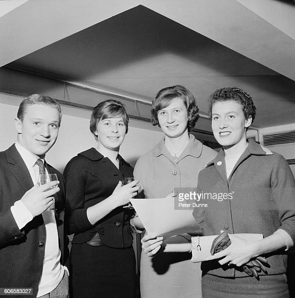 British swimmer Anita Lonsbrough is named Daily Express Sportswoman of the Year at the Savoy Hotel in London UK 9th November 1960 She won a gold...