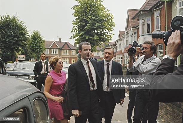 British teacher Gerald Brooke returns to his home in Finchley North London on 24th July 1969 after being released by Soviet Authorities from a...