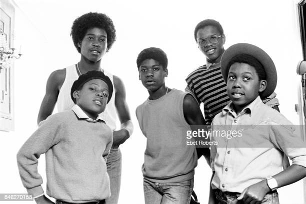 British teenage reggae group Musical Youth in New York City on February 8 1983 Clockwise from front left guitarist Kelvin Grant drummer Freddie...