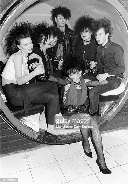 British teenagers at the Rum Runner club which launched the band Duran Duran The woman in front wears fishnet tights and stiletto shoes Their clothes...