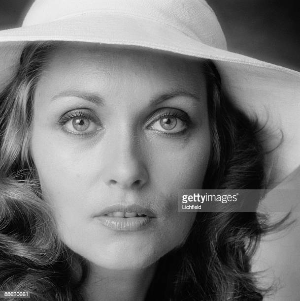British television and film actress Alexandra Bastedo photographed in the Studio on 22nd July 1974