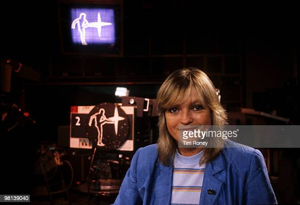 British television and radio presenter Annie Nightingale presenting the BBC TV music show 'The Old Grey Whistle Test' circa 1980