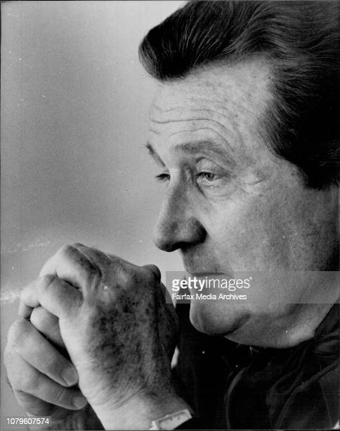 British television and theatre star Patrick MacNee at the Hilton Hotel today September 28 1981