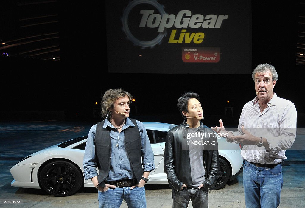 British Television BBC Presenters Richard Hammond And Jeremony - British car show bbc