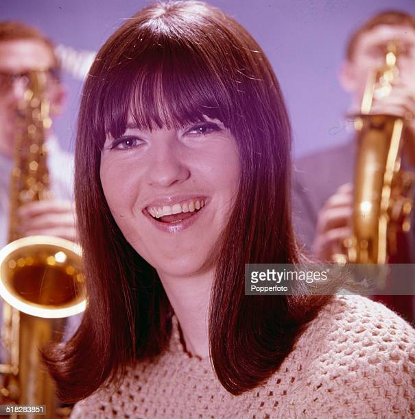 British television broadcaster and presenter of television music series 'Ready Steady Go' Cathy McGowan in 1965