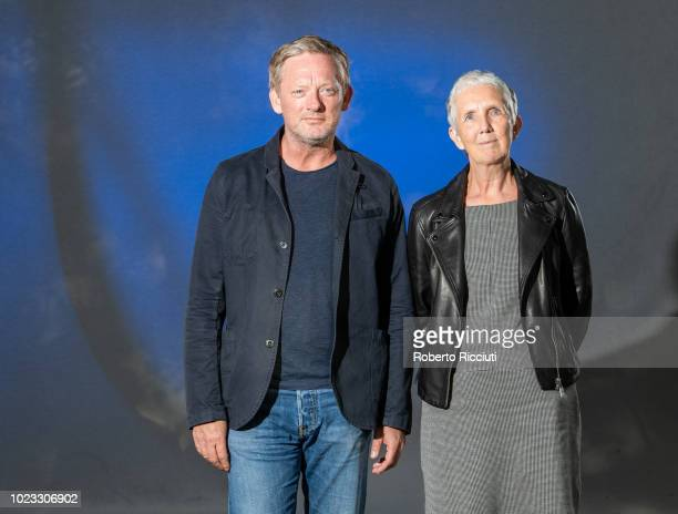 British television film and stage actor Douglas Henshall and English crimewriter Ann Cleeves attend a photocall during the annual Edinburgh...