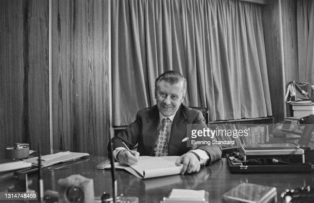 British television host Eric Morley , founder of the Miss World beauty pageant, UK, 21st June 1974.