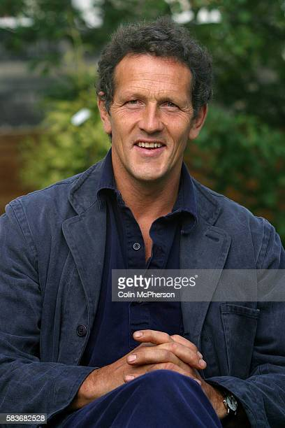 British television presenter and gardener Monty Don pictured at the Edinburgh International Book Festival, where they discussed their...