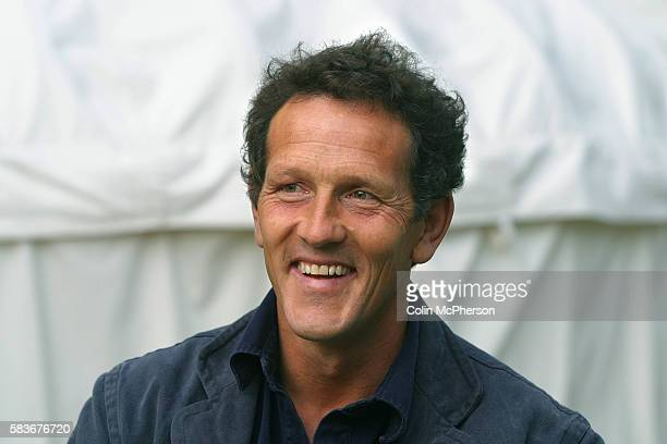 British television presenter and gardener Monty Don, with his wife Sarah, pictured at the Edinburgh International Book Festival, where they discussed...