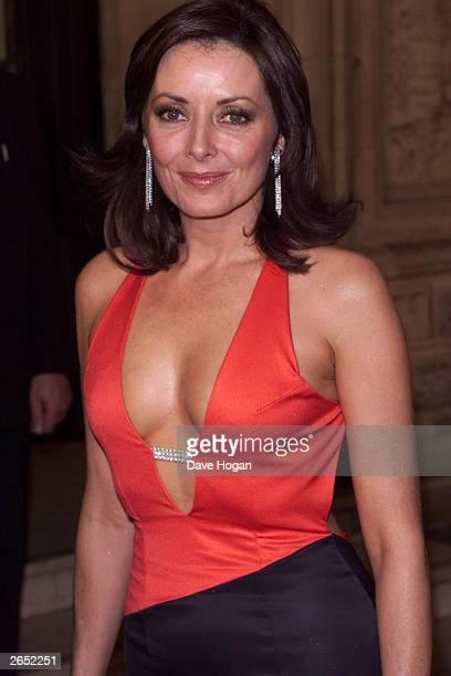 British television presenter Carol Vorderman attends the 'Royal Television Awards' at the Royal Albert Hall on October 23 2001 in London