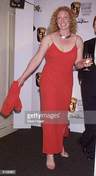 British television presenter Charlie Dimmock of the program Ground Force arrives at the BAFTA Television Awards held at the Grosvenor House Hotel on...