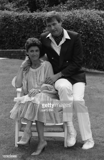 British television presenter Jan Leeming with her fourth husband Eric Steenson on November 14 1988