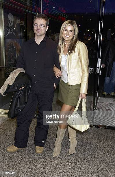 British television presenter Katy Hill and boyfriend arrive at the UK premiere of the film Jackass The Movie held at the Empire Cinema Leicester...
