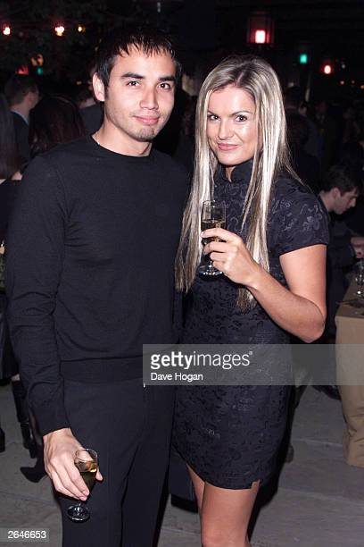 British television presenter Katy Hill and boyfriend attend the premiere party for the film Lord of the Rings The Fellowship of the Ring at Tobacco...