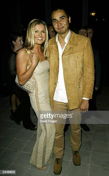 British television presenter Katy Hill and her boyfriend attend the party for the premiere of the film Minority Report at the New London Assembly...