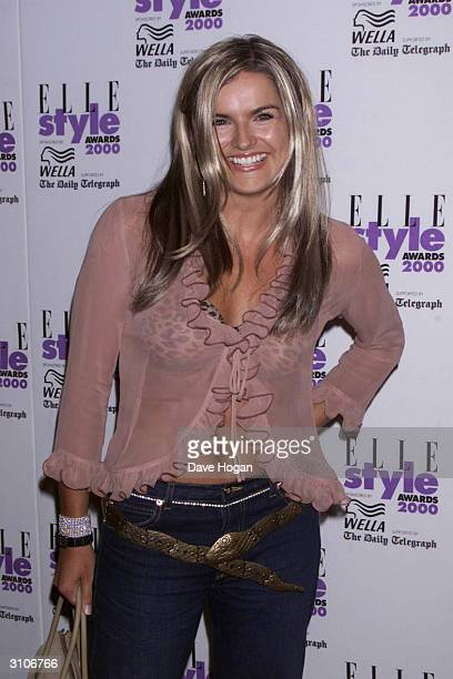 British television presenter Katy Hill arrives at the Elle Style Awards held in Leicester Square on July 9 2000 in London