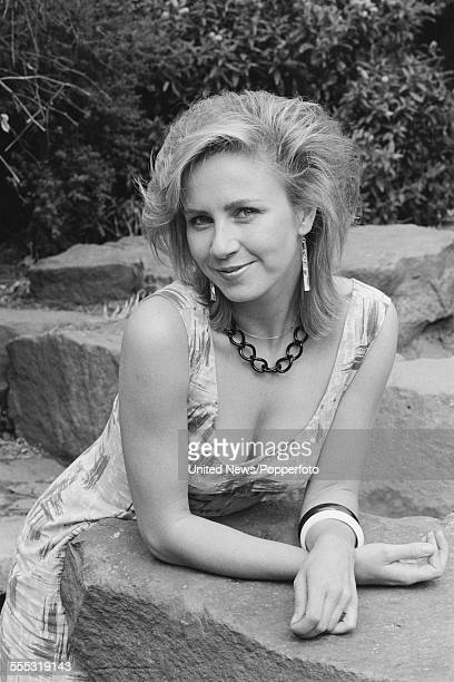 British television presenter on Blue Peter and Saturday Superstore Sarah Greene pictured in London on 7th September 1983