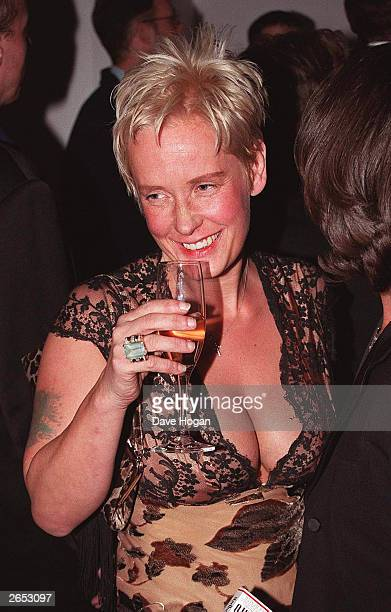 British television presenter Paula Yates attends the party for the film premiere of Rogue Trader on June 22 1999 in London