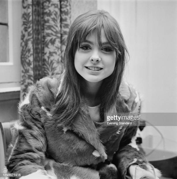 British television presenter Samantha Juste , the 'disc girl' on BBC music show 'Top of the Pops', UK, 1966.