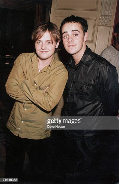 British television presenters Ant and Dec circa 1995