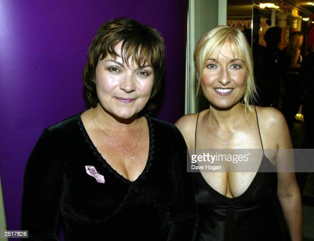 British television presenters Fiona Phillips and Lorraine Kelly at the TV Quick Awards party at the Dorchester Hotel on September 4 2000 in London