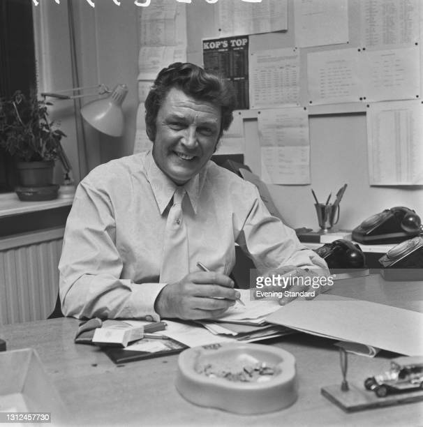 British television producer and director Alec Weeks , UK, 13th January 1973. He was executive producer of BBC1 football programme 'Match of the Day'...