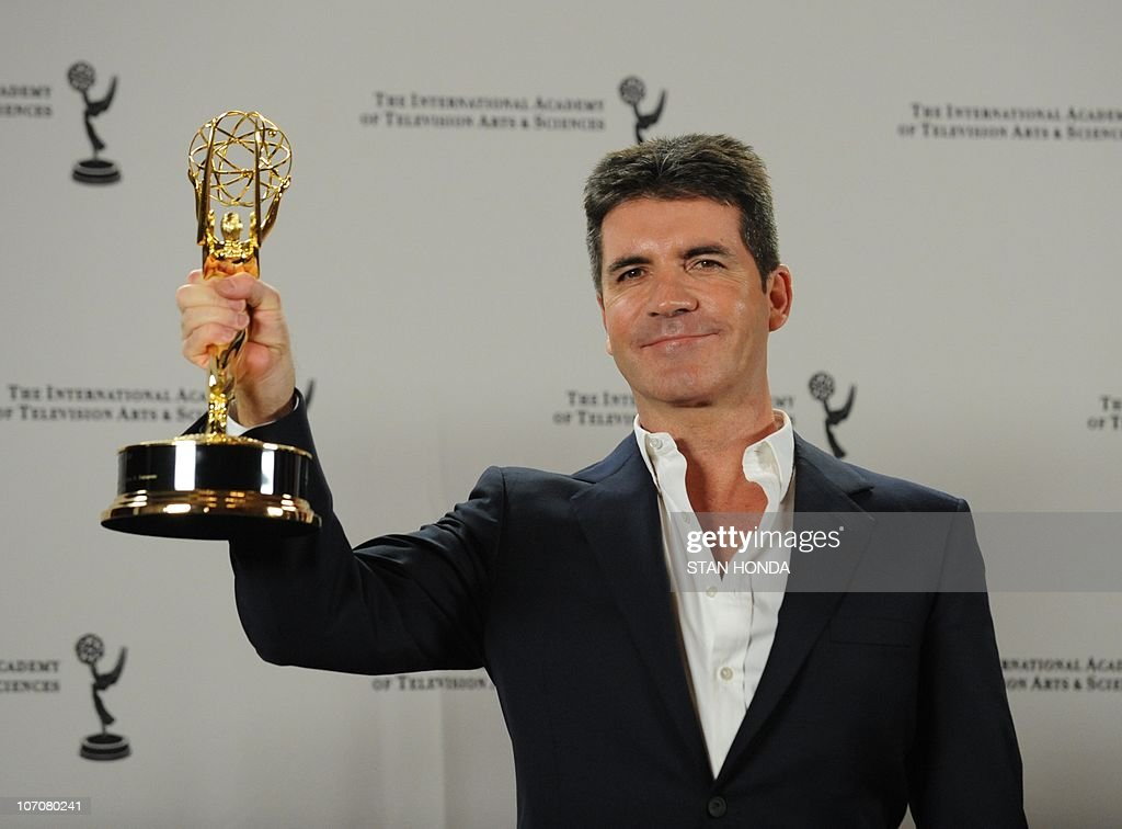 British television producer Simon Cowell : News Photo