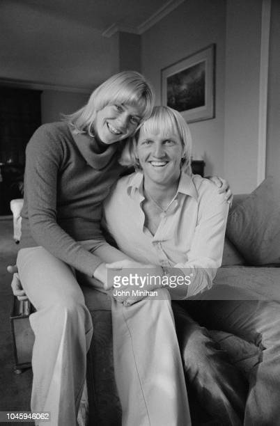 British tennis player and television presenter Sue Baker and Australian golfer and entrepreneur Greg Norman, UK, 19th March 1979.
