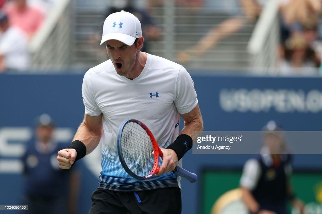 US Open 2018: Andy Murray v James Duckworth : Foto di attualità