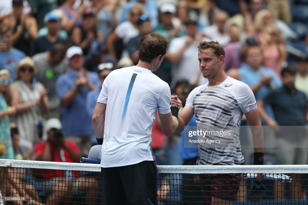 US Open 2018: Andy Murray v James Duckworth : News Photo