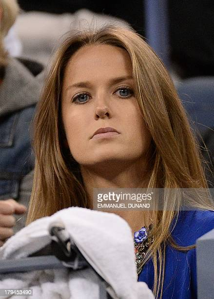 British tennis player Andy Murray's girlfriend Kim Sears watches him play against Uzbekistan's Denis Istomin during their 2013 US Open men's singles...