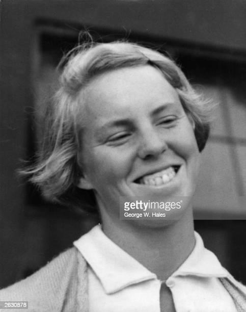 British tennis player Ann Haydon at the Wimbledon Lawn Tennis Championships