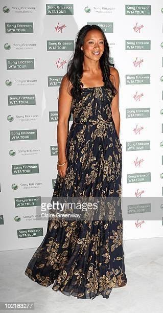British tennis player Anne Keothavong arrives at the PreWimbledon Party at The Roof Gardens Kensington on June 17 2010 in London England
