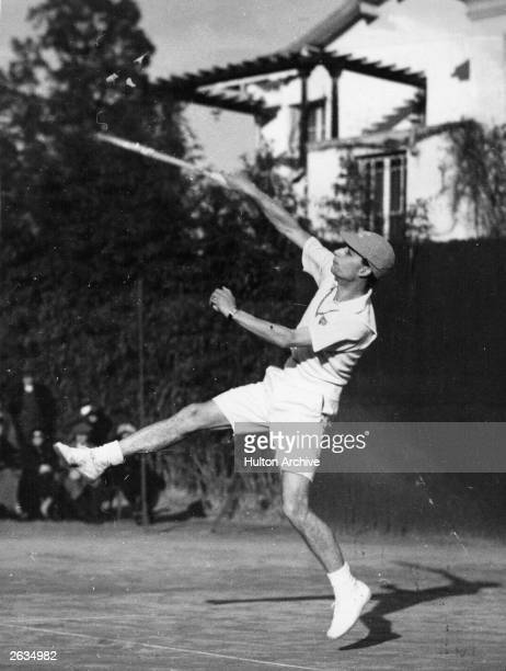 British tennis player Bunny Austin in action at the Beaulieu tournament Original Publication People Disc HG0107