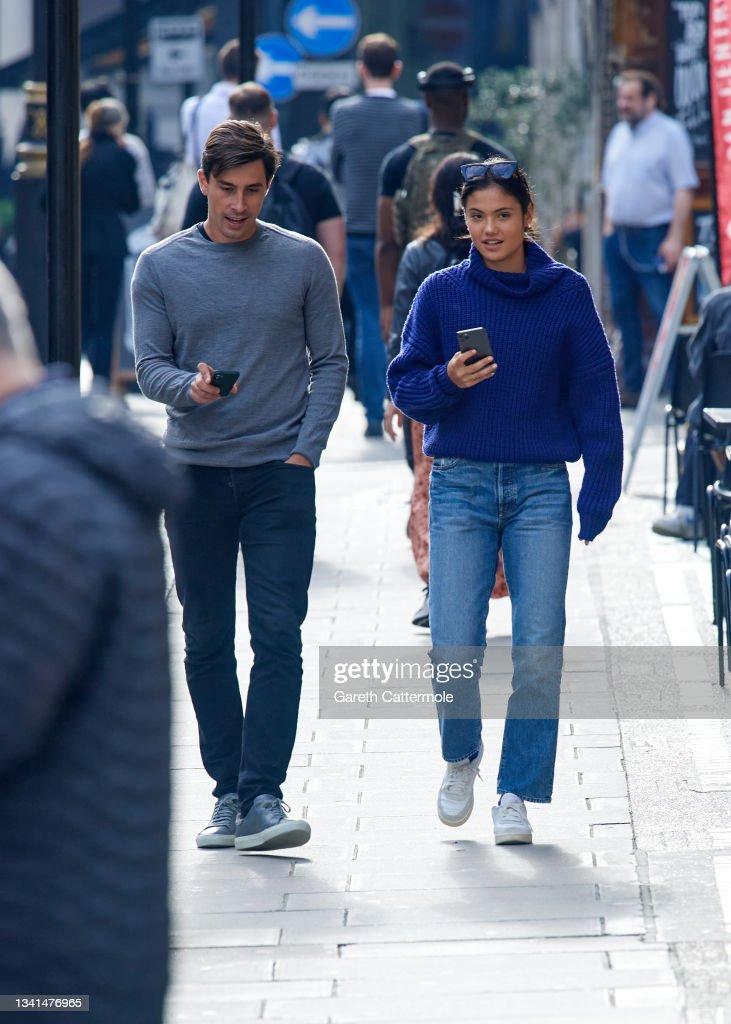 British tennis player Emma Raducanu sighting on September ...