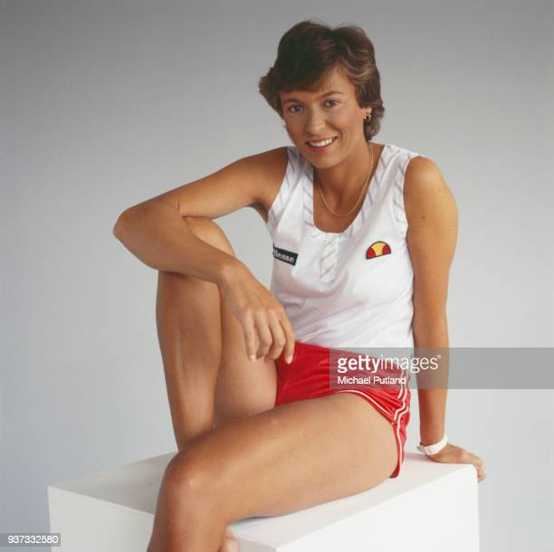 British tennis player Jo Durie London UK 1984